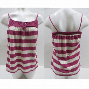 Old Navy top Small sleeveless striped keyhole tie